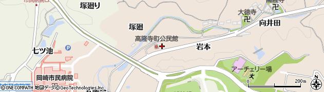 愛知県岡崎市高隆寺町(前田)周辺の地図