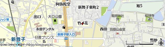 愛知県知多市新舞子(竹ノ花)周辺の地図