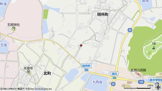〒675-2462 兵庫県加西市別所町の地図