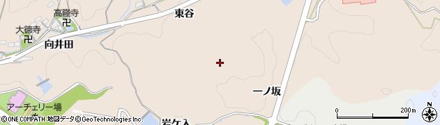 愛知県岡崎市高隆寺町一ノ坂周辺の地図