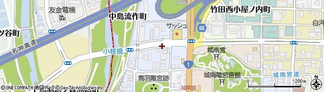 京都府京都市伏見区中島秋ノ山町周辺の地図