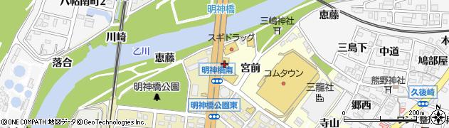 魚魚丸岡崎中央店周辺の地図