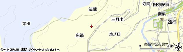 愛知県岡崎市秦梨町(法蔵)周辺の地図