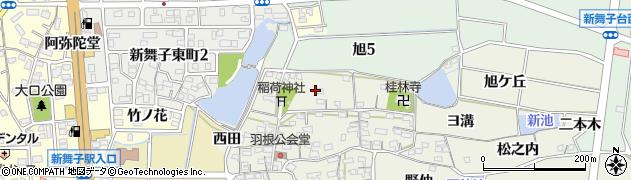 愛知県知多市金沢(稲荷山)周辺の地図