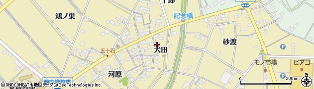 愛知県安城市福釜町(犬田)周辺の地図
