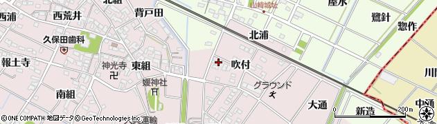 愛知県安城市上条町(吹付)周辺の地図