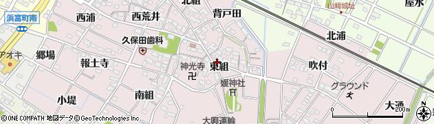 愛知県安城市上条町(東組)周辺の地図