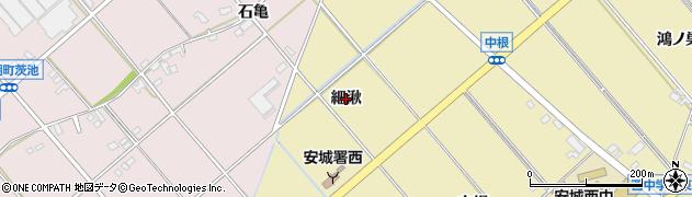 愛知県安城市福釜町(細湫)周辺の地図