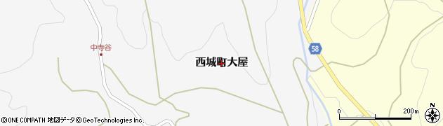 広島県庄原市西城町大屋周辺の地図