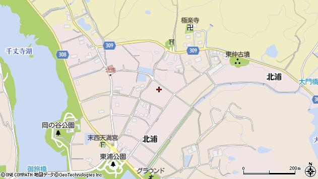 〒669-1304 兵庫県三田市北浦の地図