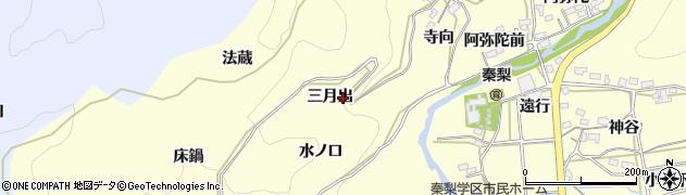愛知県岡崎市秦梨町(三月出)周辺の地図