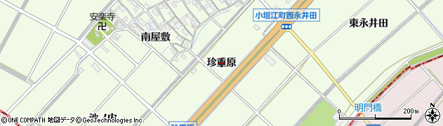 愛知県刈谷市小垣江町(珍重原)周辺の地図