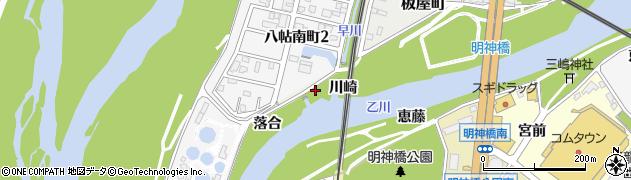 愛知県岡崎市八帖町(須田)周辺の地図