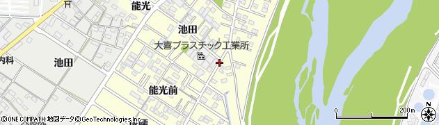 愛知県岡崎市渡町(池田)周辺の地図