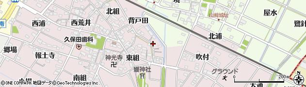 愛知県安城市上条町(背戸田)周辺の地図