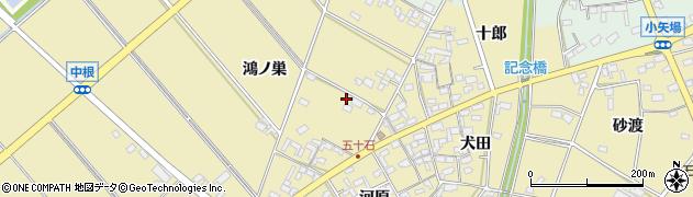 愛知県安城市福釜町(鴻ノ巣)周辺の地図