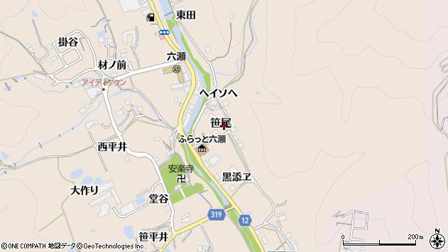 〒666-0227 兵庫県川辺郡猪名川町笹尾の地図