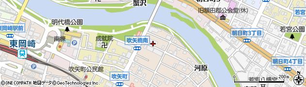 愛知県岡崎市明大寺町(天白前)周辺の地図