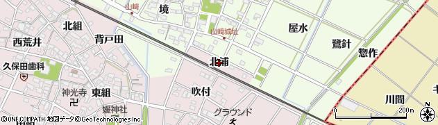愛知県安城市上条町(北浦)周辺の地図