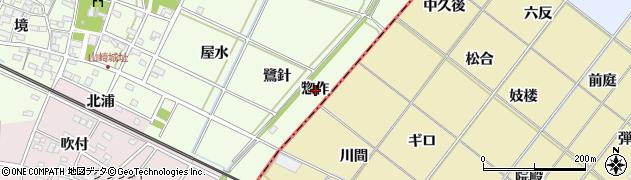 愛知県安城市山崎町(惣作)周辺の地図