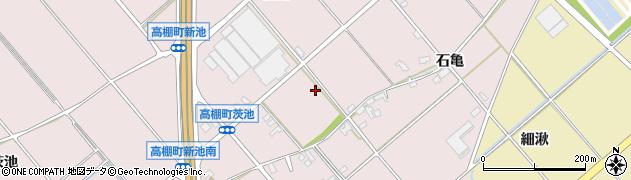 愛知県安城市高棚町(石亀)周辺の地図