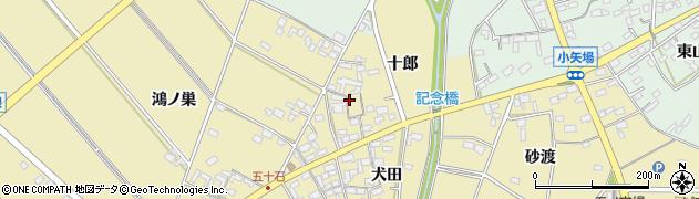愛知県安城市福釜町(十郎)周辺の地図