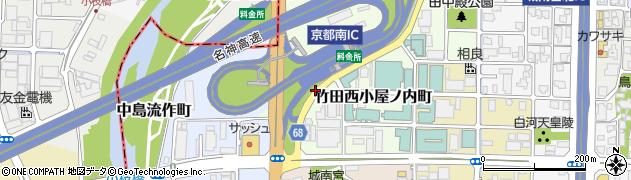 京都府京都市伏見区竹田西小屋ノ内町周辺の地図