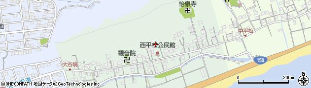 静岡県静岡市駿河区西平松周辺の地図