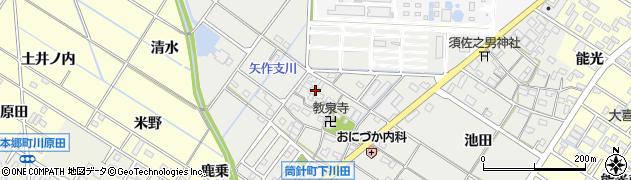 愛知県岡崎市筒針町(元流)周辺の地図