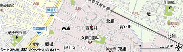 愛知県安城市上条町(西荒井)周辺の地図