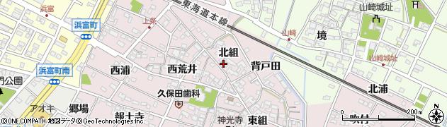 愛知県安城市上条町(北組)周辺の地図