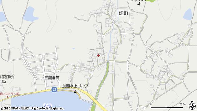 〒675-2365 兵庫県加西市畑町の地図