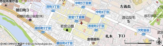 愛知県岡崎市若宮町周辺の地図