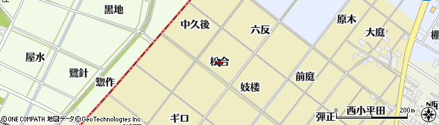 愛知県岡崎市新堀町(松合)周辺の地図