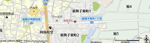 愛知県知多市新舞子東町周辺の地図