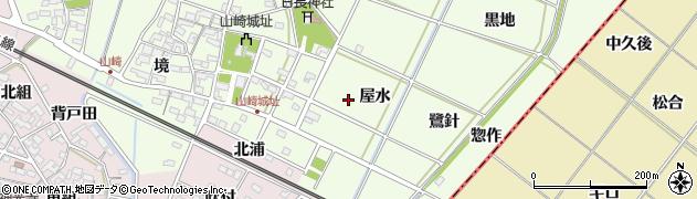 愛知県安城市山崎町周辺の地図
