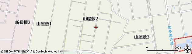 愛知県知多市山屋敷周辺の地図
