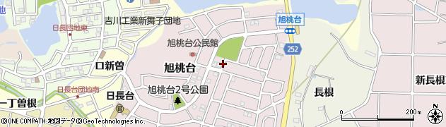 愛知県知多市旭桃台周辺の地図