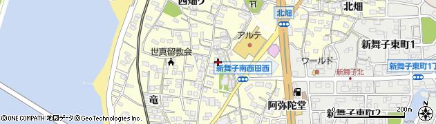 愛知県知多市新舞子(南屋敷)周辺の地図