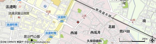 愛知県安城市上条町(熊野林)周辺の地図