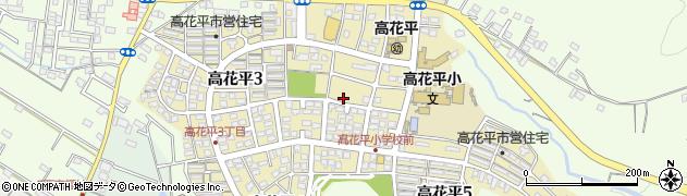 三重県四日市市高花平周辺の地図