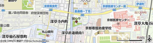京都府京都市伏見区深草直違橋北周辺の地図