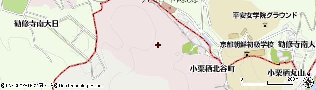 京都府京都市伏見区小栗栖北谷町周辺の地図
