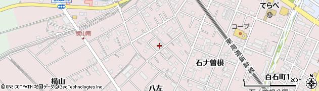 愛知県安城市横山町(八左)周辺の地図