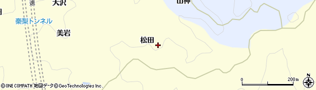 愛知県岡崎市秦梨町(松田)周辺の地図