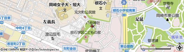 八柱神社周辺の地図