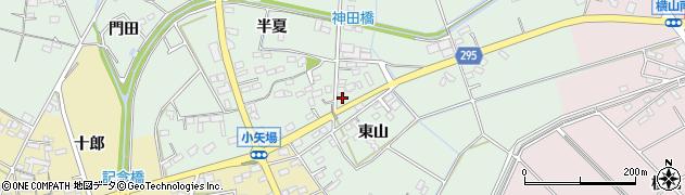愛知県安城市箕輪町(東山)周辺の地図