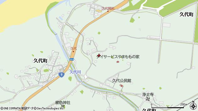 〒697-0004 島根県浜田市久代町の地図