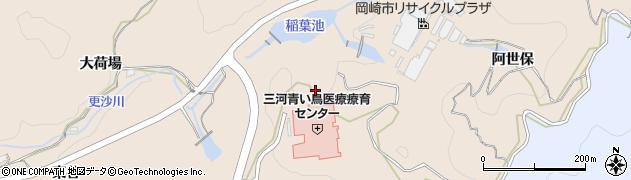 愛知県岡崎市高隆寺町(小屋場)周辺の地図