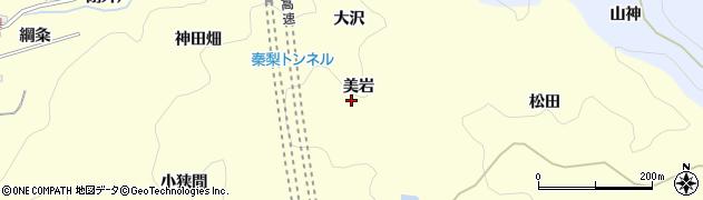 愛知県岡崎市秦梨町(美岩)周辺の地図